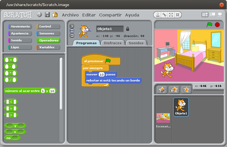 how to use scratch 1.4