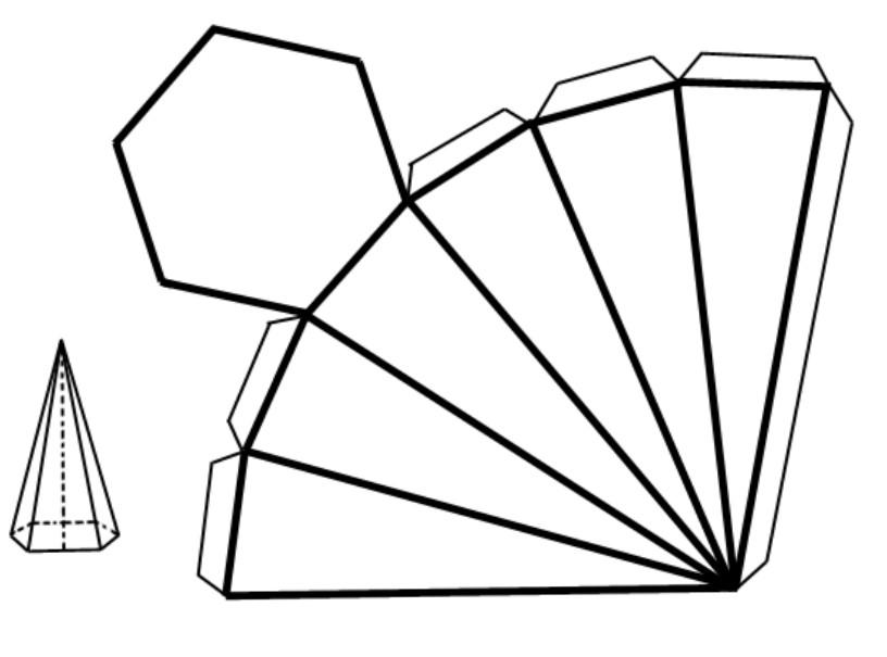 piramide-de-base-hexagonal